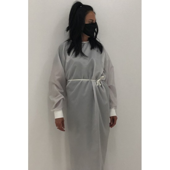 Robe grise d'isolement lavable